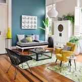 Best Blue Yellow Colors Mixing that Sparks Cheerful Interior Mood Part 17