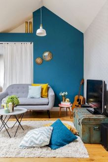Best Blue Yellow Colors Mixing that Sparks Cheerful Interior Mood Part 18
