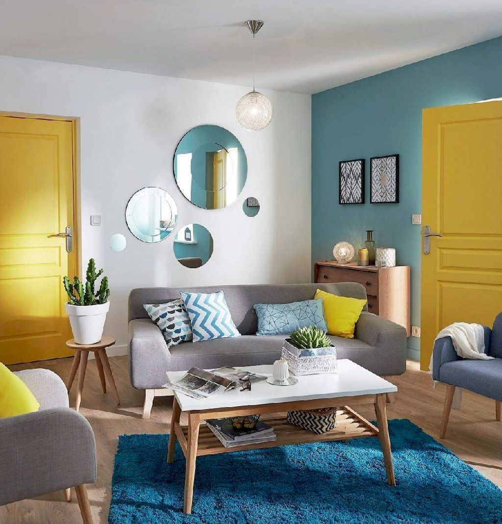 Best Blue Yellow Colors Mixing that Sparks Cheerful Interior Mood Part 4