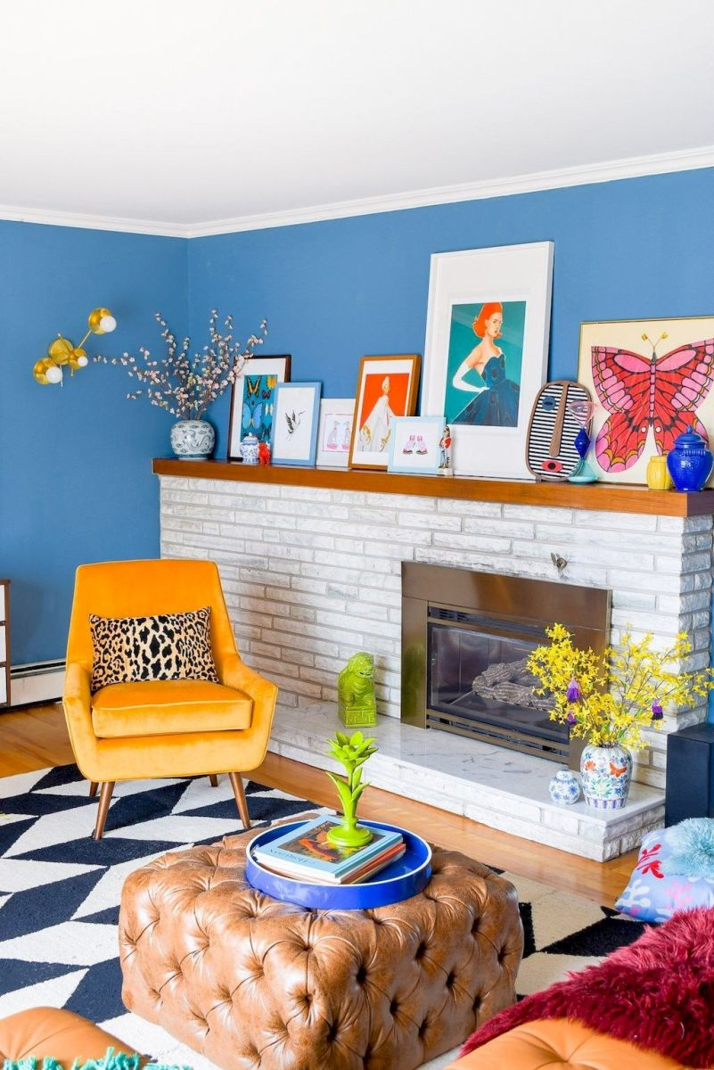 Best Blue Yellow Colors Mixing that Sparks Cheerful Interior Mood Part 8