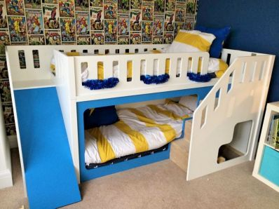 Cool bunk beds design ideas for boys that wonderful as solution for making the most out of a shared space Part 10