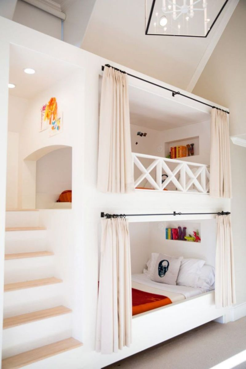 Cool bunk beds design ideas for boys that wonderful as solution for making the most out of a shared space Part 15