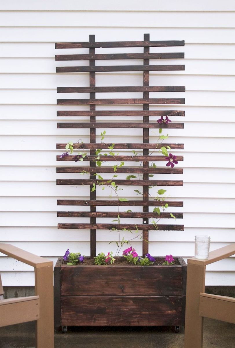 DIY planter boxes made from reclaimed woods and pallets excellent for outdoor and indoor decoration Part 11