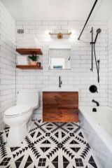 Effective bathroom organization with easy open shelving ideas Part 1