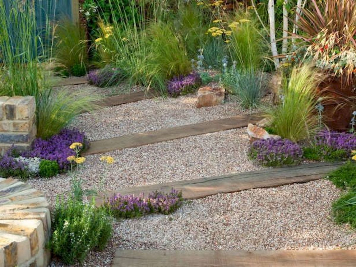 Exotic traditional style of graveled garden walkways that add more natural vibes in your garden designs Part 19