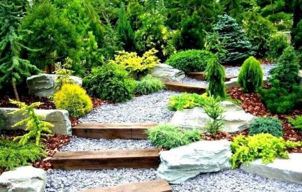 Exotic traditional style of graveled garden walkways that add more natural vibes in your garden designs Part 29