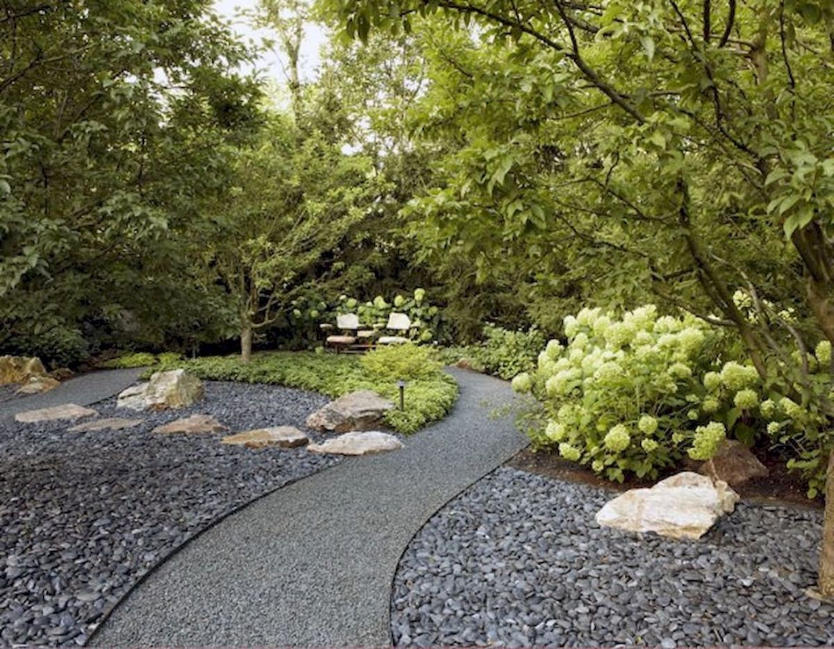Exotic traditional style of graveled garden walkways that add more natural vibes in your garden designs Part 33