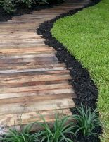 Garden wooden pathways that look blending with nature Part 15