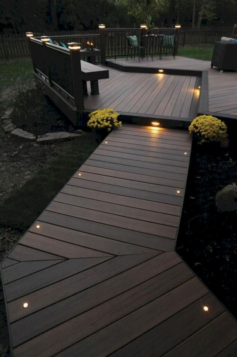 Garden wooden pathways that look blending with nature Part 17