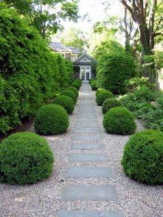 Graveled garden walkways that give more exotic natural finishing in your garden designs Part 15