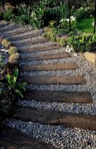 Graveled garden walkways that give more exotic natural finishing in your garden designs Part 5