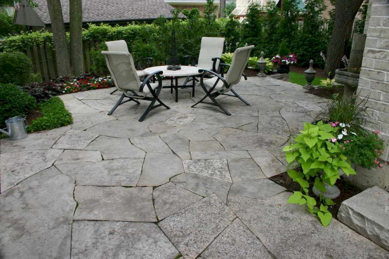 Amazing Flagstone Paving Outdoors Update Ideas Elonahome Com