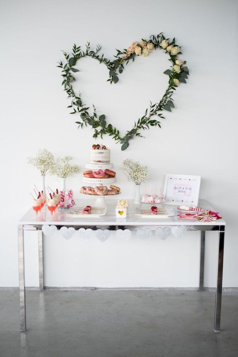 Lovely Table Decoration for Valentine Wedding Theme Part 28