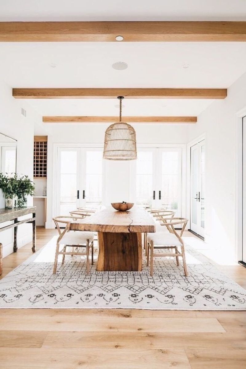 Modern Coastal Home Designs with Traditional Dining Room Twist Part 19