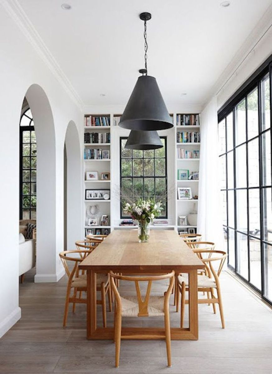 Modern Coastal Home Designs with Traditional Dining Room Twist Part 23