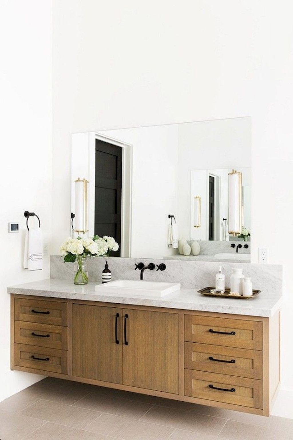 Modern Bathroom Designs With Floating Wood Vanity And Wallmounted Bathroom  Cabinets Part 2