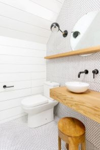 Modern bathroom designs with floating wood vanity and wallmounted bathroom cabinets Part 22