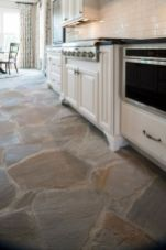 Natural Stone Floor Ideas that Looks Amazing in Traditional and Vintage Kitchen Styles Part 9