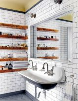 Open shelving and builtin cabinets for lots of extra bathroom storage Part 26