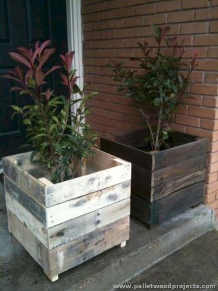 Planter box ideas made from pallets that look perfect with simple finishing Part 5