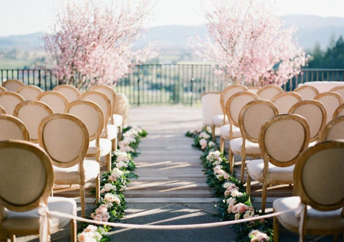 Romantic Spring Wedding Decor from Spring Garden Wedding Inspiration in Pretty Pastel Shades of Peach Blush and Green Part 5