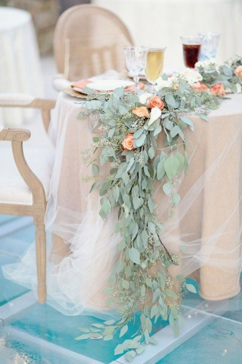 Romantic Spring Wedding Decoration with Green Peach and Cherry Pink Color Themes That Look Very Lovely Part 18