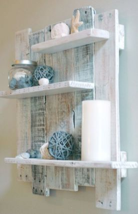 Simple bathroom shelves made from wood pallets Part 34