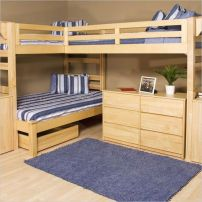 Wooden Storage Bunk Bed Frame Designs That Effective to give ashared space some efficient organizations Part 1