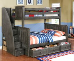 Wooden Storage Bunk Bed Frame Designs That Effective to give ashared space some efficient organizations Part 15