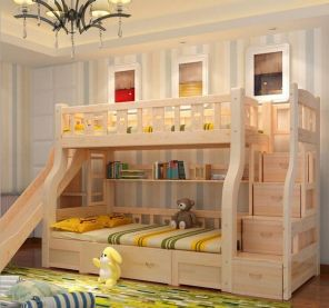 Wooden Storage Bunk Bed Frame Designs That Effective to give ashared space some efficient organizations Part 26