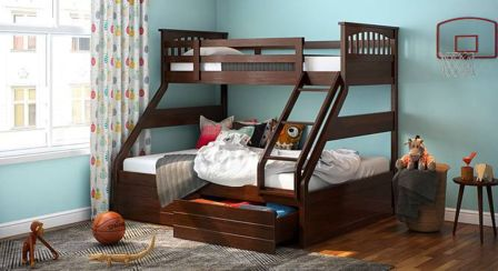Wooden Storage Bunk Bed Frame Designs That Effective to give ashared space some efficient organizations Part 5
