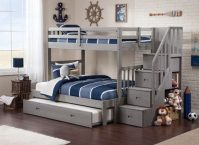 Wooden Storage Bunk Bed Frame Designs That Effective to give ashared space some efficient organizations Part 9