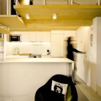 Amazing kitchen arrangement that simple and functional space from attic ronovation in Madrid MULTIPLYING ARCHITECTURES (III) Duplicated Renovation (3)