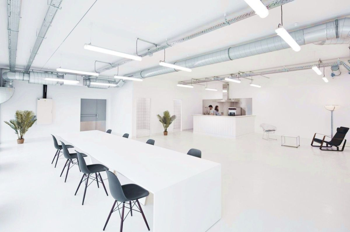 Perfect example of modern office style giving functional youthful look for Marine Serre workshop