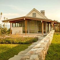Seafront house Spurwink Retreat showing off old farm design with perfect natually layouted landscape completed in 2014 by Wright Ryan Homes (15)