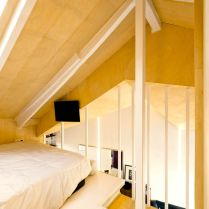 Utilizing limited space into cozy bedroom in attic ronovation in madrid MULTIPLYING ARCHITECTURES (III) Duplicated Renovation Idearch Studio (10)