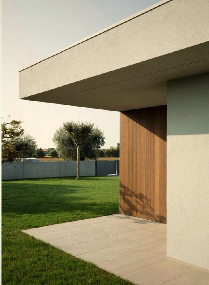Brilliant exterior displaying beautiful mix of material that give the home a modern character (1)