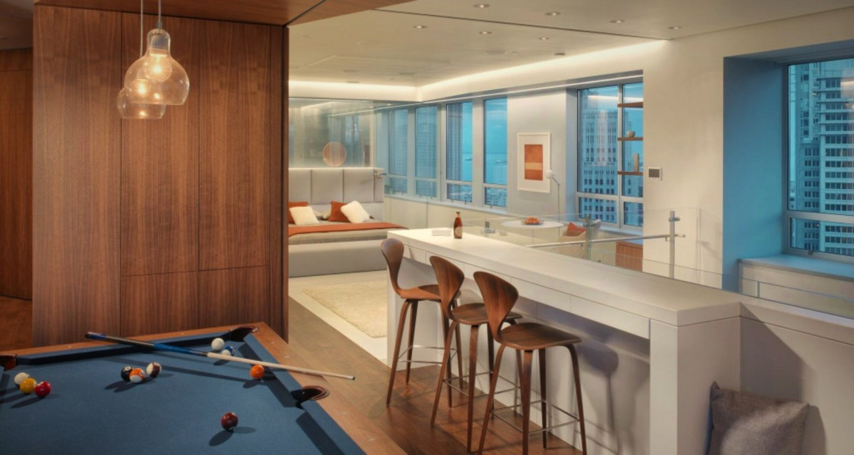 Exclusive penthouse design exposing elegant detail to merge with beautiful sky view Market Street Penthouse