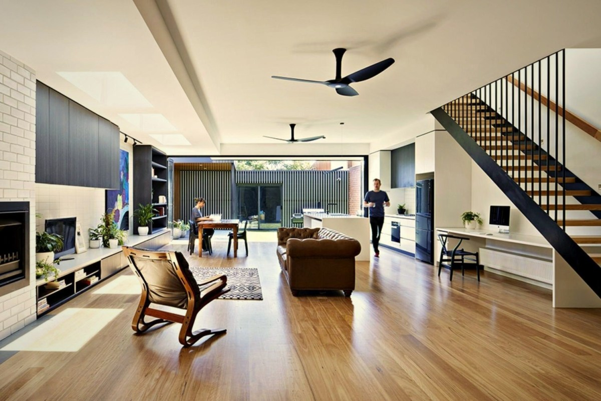 Open interior style increasing more sense of space Brunswick Rd House (3)