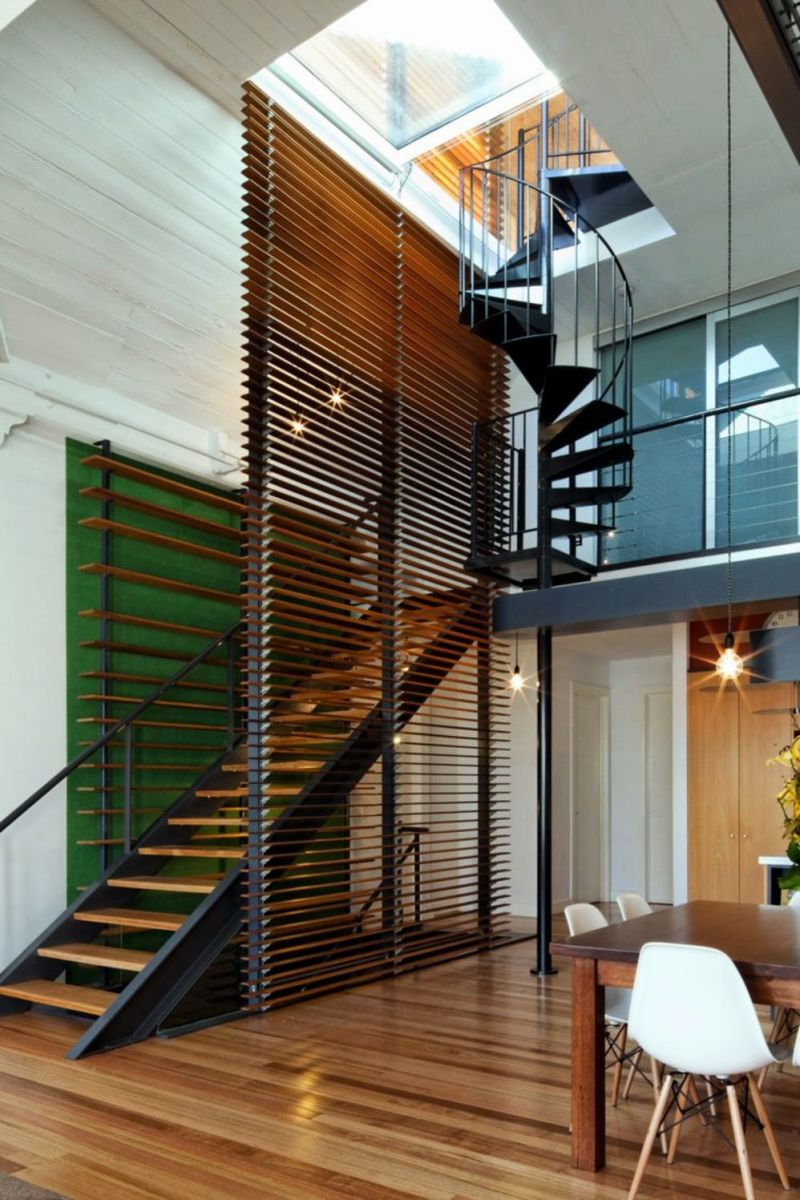 Brilliant interior renovation converting small space into a high functioning dwelling that preserves friendliness character in casual style (1