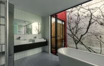 Modern house concept maximizing narrow area with brilliant spatial distribution strategy Moor House (6)