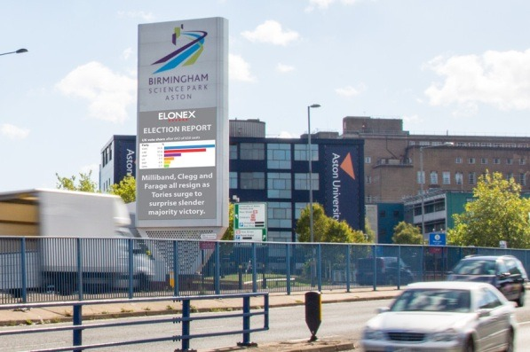 Elonex Deliver Live Roadside Digital Election Updates in Birmingham