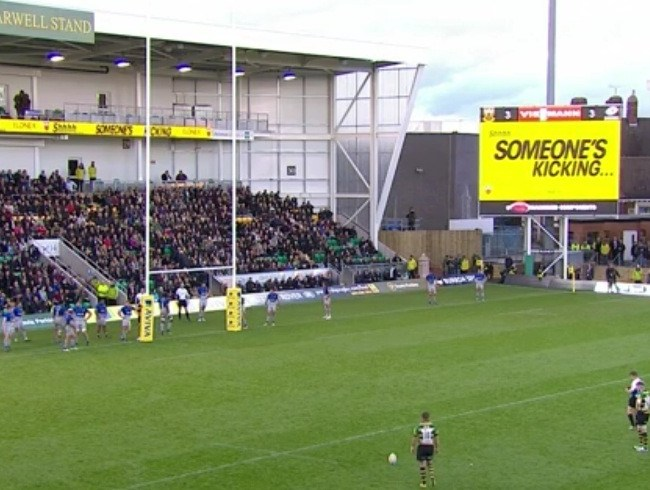 Elonex Enhance Matchday Experience at Franklin's Gardens