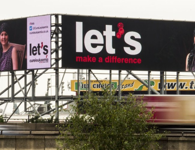 Innovative Support for Cure Leukaemia from Outdoor Media Specialists