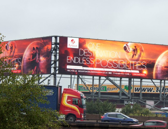 Roadside Digital Dominance Day for Resorts World Birmingham