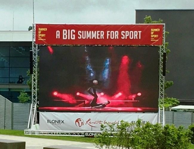Elonex Giant Screen Kicks Off Big Summer of Sport at Resorts World Birmingham