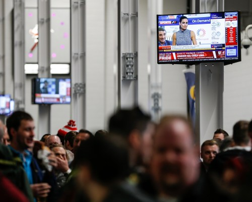 South Stand Concourse TV's - Mandatory byline: Rogan Thomson/JMP - 19/04/2016 - FOOTBALL - Ashton Gate Stadium - Bristol, England - Bristol City v Derby County - Sky Bet Championship.