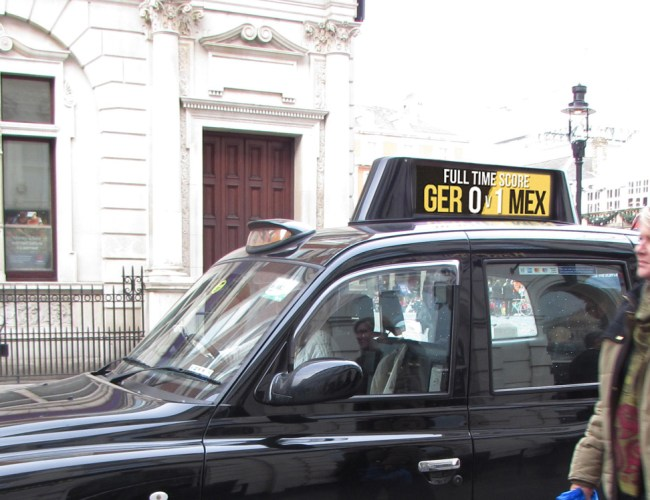 Digital Taxi Tops Know the Score in London!