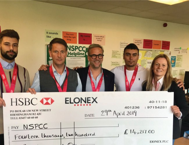 Team Elonex raise £15,000 running London Marathon for the NSPCC