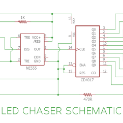 Led Light Circuit Diagram For Dummies Shakespeare Globe Theater Chaser Sequential Flasher Using 4017 Ic And 555 Lights